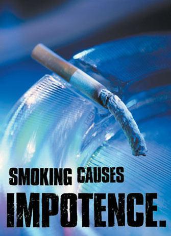 Smoking causes impotence advertisement