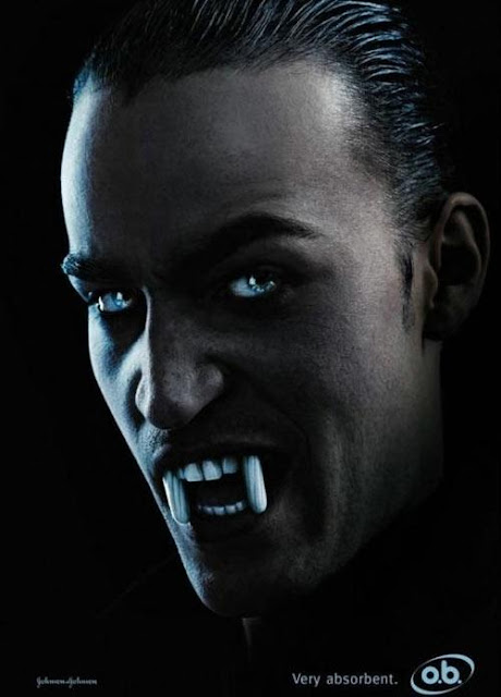 OB tampons - Dracula advertisement