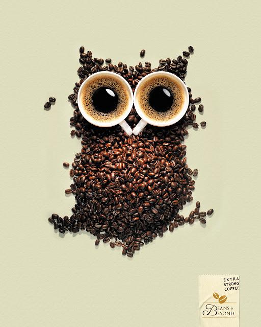 Coffee owl advertisement