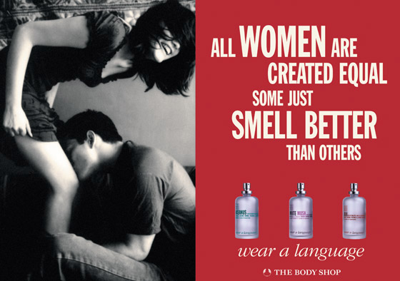 The Body Shop ad - Some women smell better