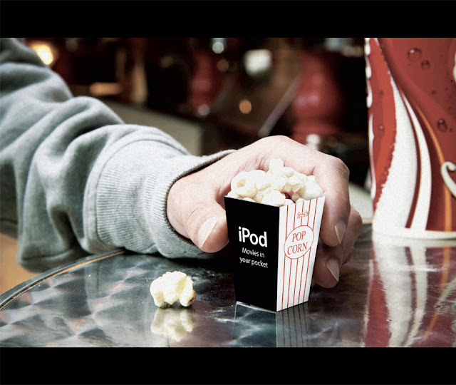 iPod nano advertising campaign - Mini popcorn
