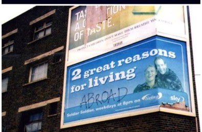 Funny vandalised billboards