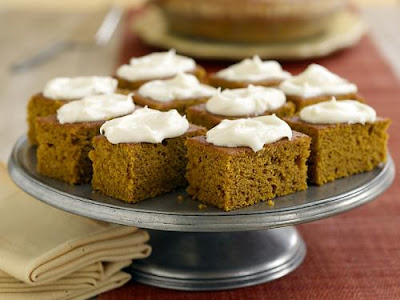 Pumpkin Cake With Cream Cheese Frosting Paula Deen