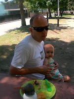 Daddy and Lily at the park