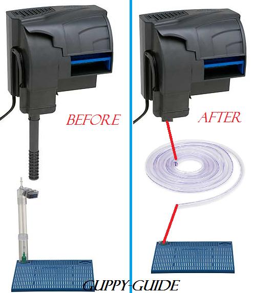 Guppy guide filtration idea for Diy gravel filter