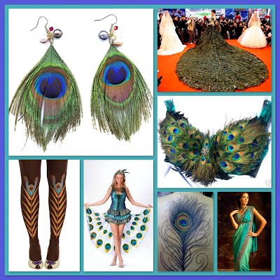 Peacock inspired earrings wedding gown bra sari tattoo costume tights