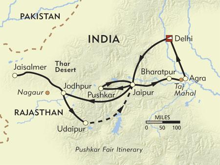 Tourist Map Of Rajasthan. Road Map of Pushkar