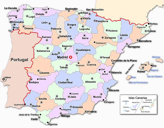 Sitios Tursticos De Espaa Mapa