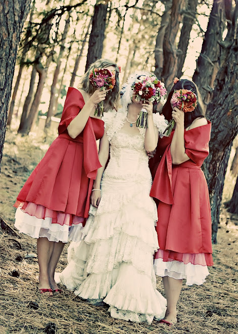 bride and sisters