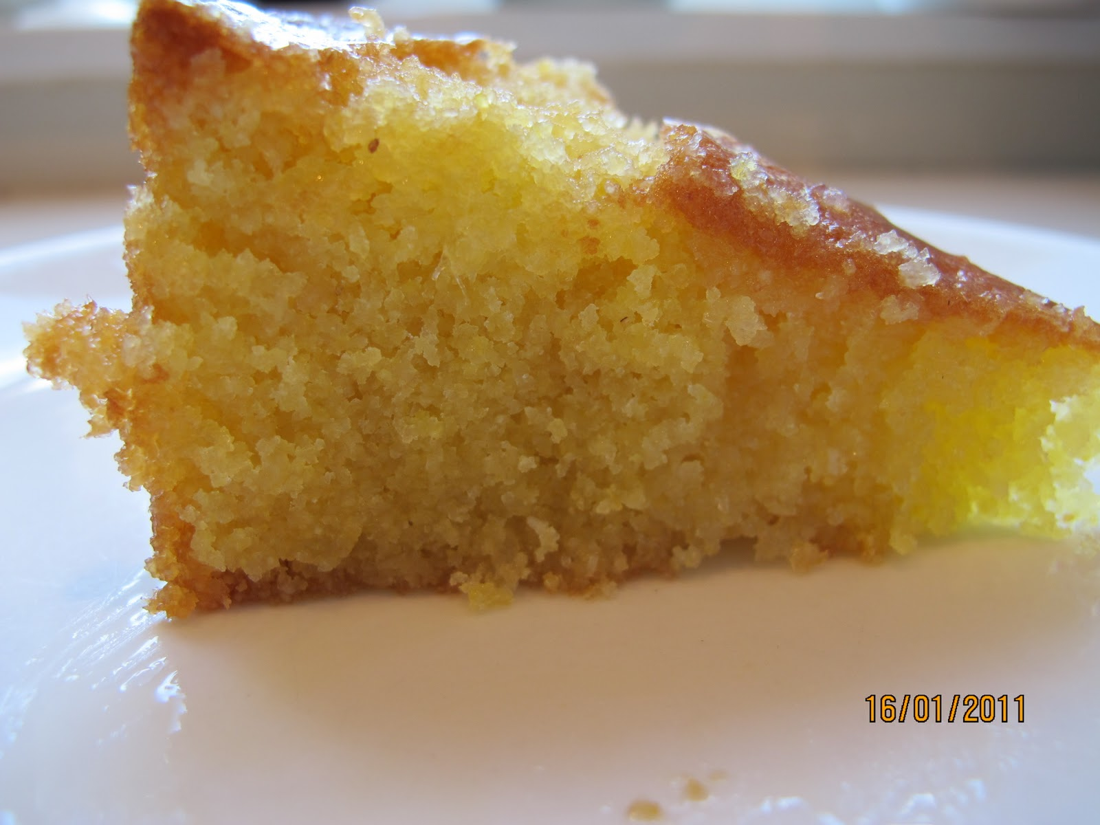 It's all about family and food: Lemon Polenta Cake