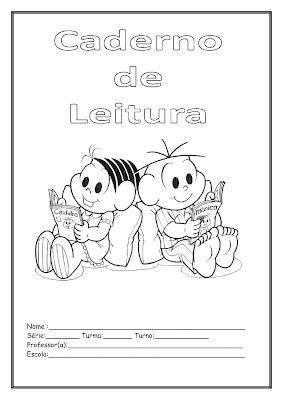 Capa Caderno de Leitura - Turma da Mônica