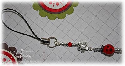 LadyBug mobile phone charm closeup