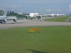 flights in queue in changi