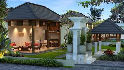 desain rumah, desain villa, type 200, interior, minimalis