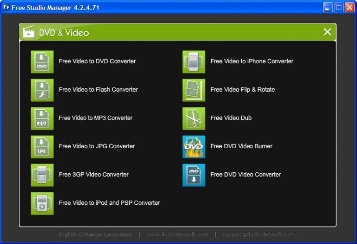 ����� � ����� [ ������ ����� ] Free Studio Manager ������ ����� ������ ������ ������� Free_Studio_DVD_Vide