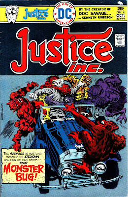 Justice Inc. v1 #3 dc bronze age comic book cover art by Jack Kirby