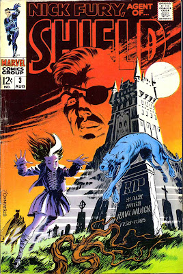 Nick Fury Agent of Shield v1 #3 1960s marvel comic book cover art by Jim Steranko