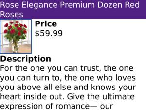gift flowers blackberry app