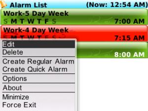 blackberry alarm pro