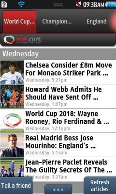 goal.com bada phone app