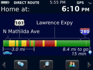 blackberry traffic app
