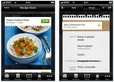 Jamie's Recipes, cooking app for iPhone