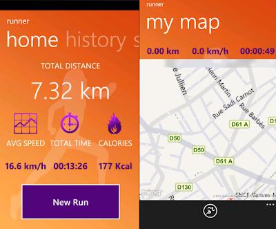 Runner WP7 App