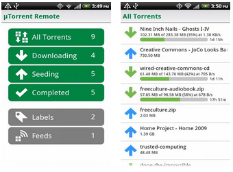 µTorrent Remote app for Android