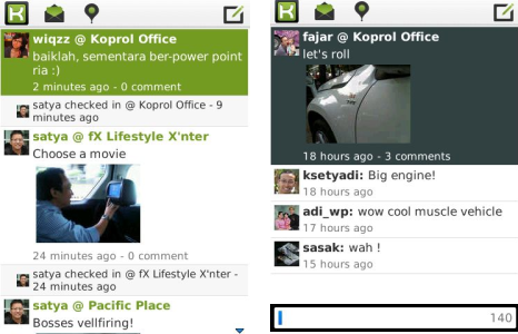 Koprol app for BlackBerry