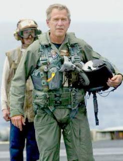 President Bush in flight suit