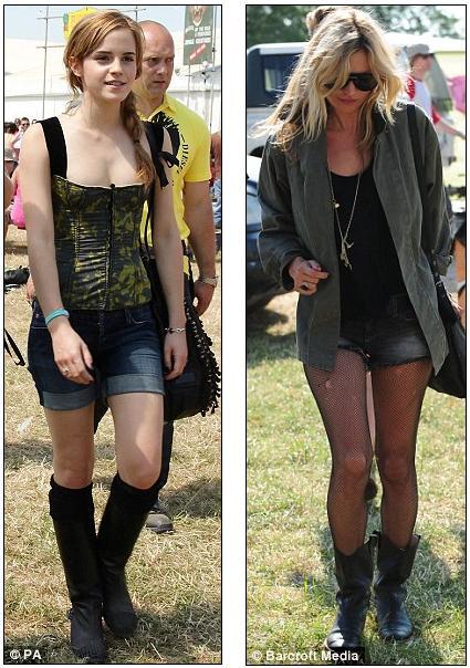 kate moss style photos. as Emma Watson, Kate Moss