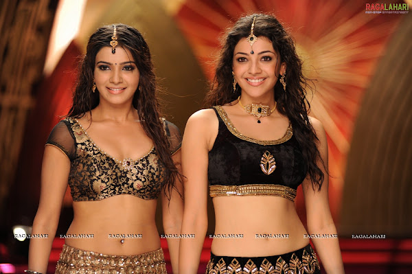 Kajal agarwal and Samantha in Brindavanam movie photos movie photos