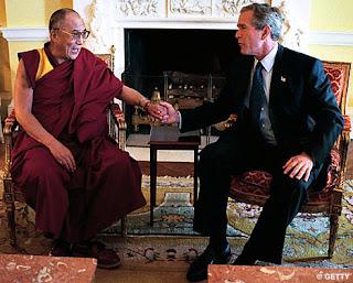 Dalai Lama George W. Bush