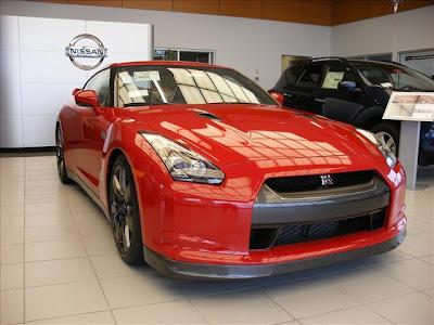 Red Nissan GTR 2010