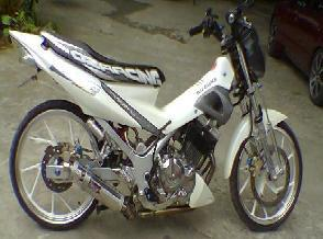 New Satria F Modif both rear gear