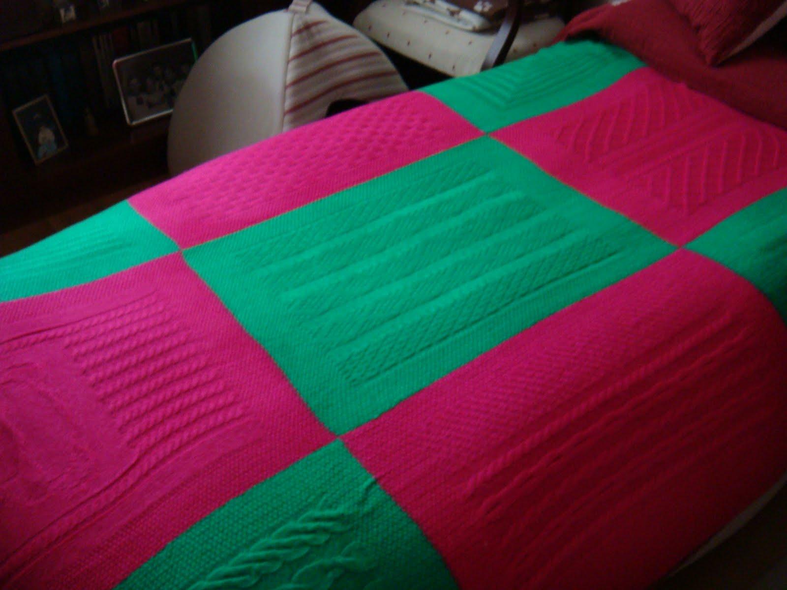 Las labores de paloma la manta de punto de mar a for Mantas de lana para sofa