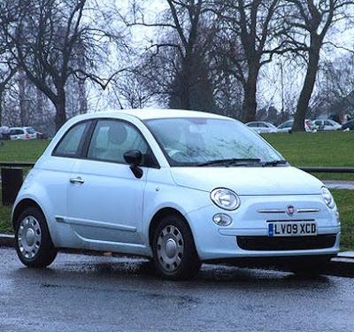 "New Fiat 500 ""sky blue"""