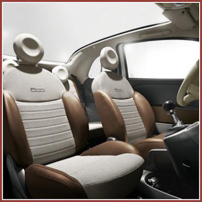 New Fiat 500 C (convertible) interior. Pubblicato da webmaster a 8:03 AM