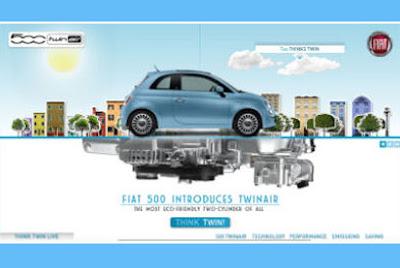 Ooblog FIAT Oo New Fiat C TwinAir Website - Fiat 500 website