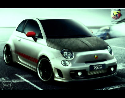 New Abarth 500 virtual tuning New Abarth 500 virtual tuning