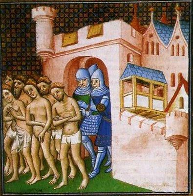 Imoralíssimos cátaros expulsos pelos Cruzados anti-albigenses. As Cruzadas