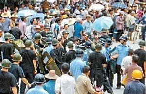 Enfrentamentos polícia e manifestantes, Jishou e Ningbo