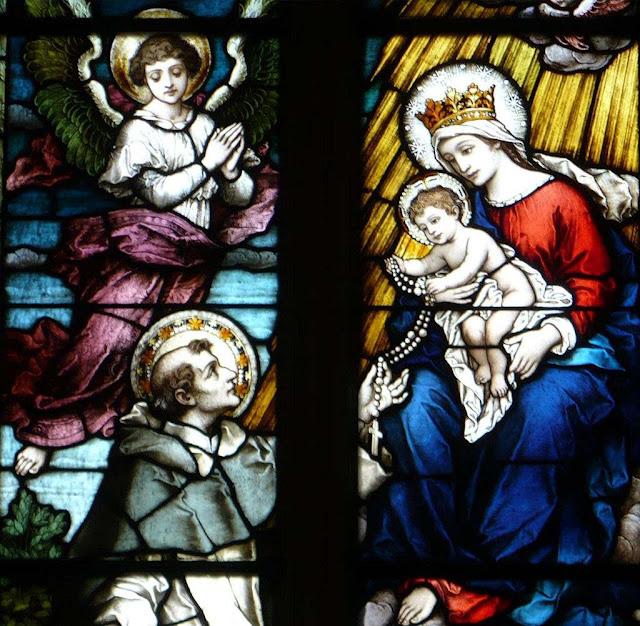 São Domingos de Gusmão recebe o rosário de Nossa Senhor. DuquesneUniversity, EUA.
