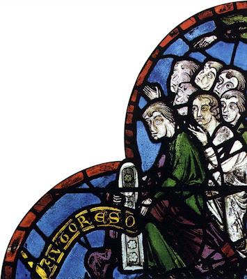 Corporação de sapateiros que doou um vitral para a catedral de Chartres