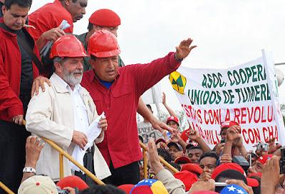 061113, Lula e Hugo Chávez, inauguração ponte sobre Rio Orinoco, Wilson Dias-ABr