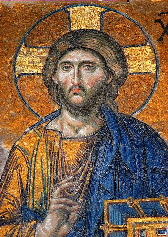 Mosaico de Nosso Senhor Jesus Cristo. Agia Sofia, Estambul