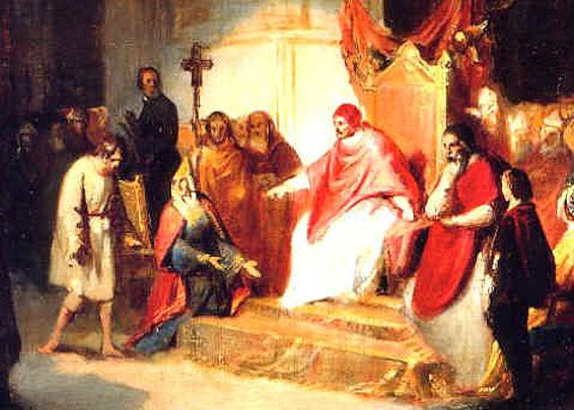 Henrique IV pede perdão a São Gregório VII em Canosa