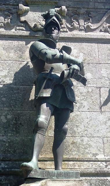 Bayard, estátua em St. Anne d'Auray, Bretanha, França