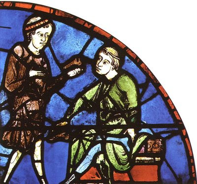 Sapateiro e cliente, catedral de Chartres