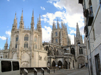 Burgos catedral vista geral.